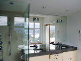 Full height mirrors with light cut outs