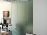 Glass Rooms and Doors: Frame-less Frosted Glass